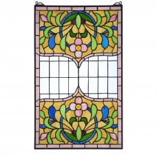 Design Toscano Eaton Place Stained Glass Window Panel TXG9355