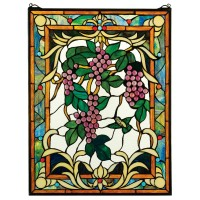 Design Toscano The Grape Vineyard Stained Glass Window TXG2947