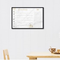 Mercer41 Marble Weekly Schedule Wall Mounted Dry Erase Board MCRF5746