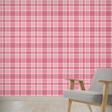 "August Grove Highland Creek Be Mine Plaid 4' L x 24"" W Peel and Stick Wallpaper Panel NDN14862"