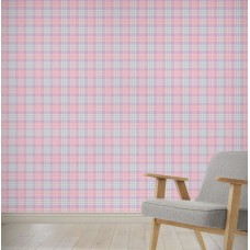 "August Grove Hildreth Coffee Donut Plaid 4' L x 24"" W Peel and Stick Wallpaper Panel NDN14871"