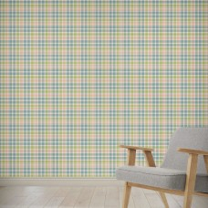"August Grove Himes Love Potion Plaid 4' L x 24"" W Peel and Stick Wallpaper Panel NDN14888"