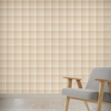 "August Grove Hirano Plaid Beach 4' L x 24"" W Peel and Stick Wallpaper Panel NDN14906"
