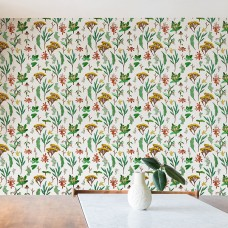 "East Urban Home Holli Zollinger Herbal Study 10' L x 24"" W Matte Peel and Stick Wallpaper Roll ETRB2199"