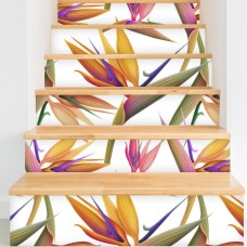 "Walls Need Love Bird of Paradise Removable 5' x 20"" Floral Wallpaper WANL2924"
