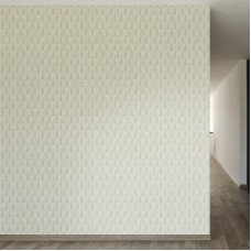 "Walls Need Love Retro Nouveau Removable 8' x 20"" Geometric Wallpaper WANL2579"