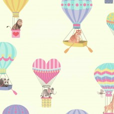 "York Wallcoverings Growing Up Kids Take To The Air Removable 27' x 27"" Wallpaper Roll DOQ2354"