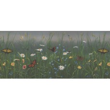 "August Grove Holford Dandelions, Daisies, and Butterflies 0.83' L x 180"" W Wallpaper Border REAT1756"