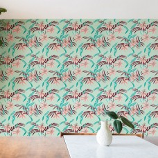 "East Urban Home Holli Zollinger Tigerlily 10' L x 24"" W Matte Peel and Stick Wallpaper Roll ETRB2181"