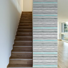 "Walls Need Love Get This Straight Removable 10' x 20"" Stripes Wallpaper WANL2764"