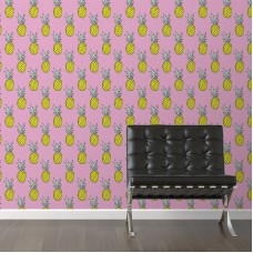 "Walls Need Love Pineapple Party Removable 10' x 20"" Wallpaper WANL3146"