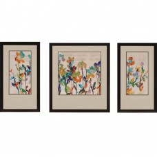 Brayden Studio 'Nectar' 3 Piece Framed Painting Print Set BRYS7141