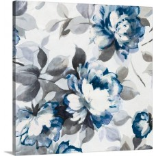 Great Big Canvas 'Scent of Roses II Painting Print in Indigo GRNG6133