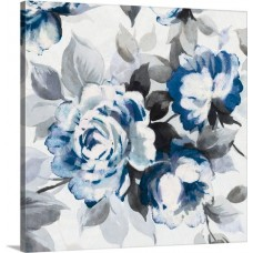 Great Big Canvas 'Scent of Roses III Painting Print in Indigo GRNG6134