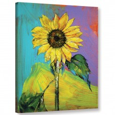 Ivy Bronx Sunflower Painting Print on Wrapped Canvas IVYB7754