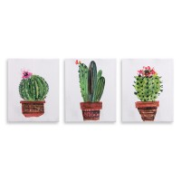 Mistana 'Minimalist Potted Cactus Painting' 3 Piece Graphic Art Print Set on Canvas MLDP1113