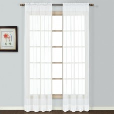 August Grove Giselle Semi-Sheer Rod Pocket Single Curtain Panel AGGR3078