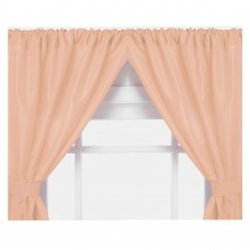 Ben and Jonah Solid Semi-Sheer Rod Pocket Curtain Panels BANJ1226
