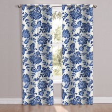 Charlton Home Poulsen Floral Room Darkening Grommet Curtain Panel CHRH5746