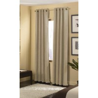 Curtainworks Cameron Solid Room Darkening Grommet Single Curtain Panel CRTW1012