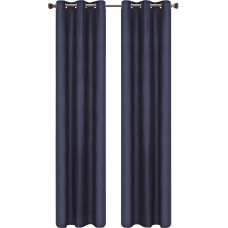 Darby Home Co Gorham Solid Blackout Thermal Rod pocket Curtain Panels DRBC2621