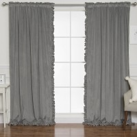 Gracie Oaks Pippa Velvet Solid Blackout Rod Pocket Curtain Panels AAOF1055