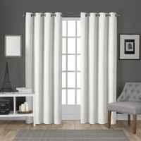 House of Hampton Rossum Solid Room Darkening Grommet Curtain Panels HOHM6885