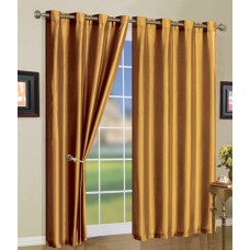 J&V Textiles Solid Color Grommet Curtain Panels JVTE1003