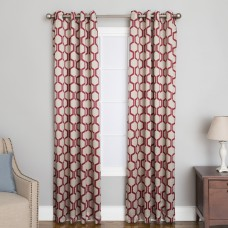 Natco Home Aslyn Geometric Grommet Single Curtain Panel NTCO1024