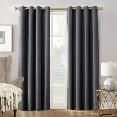 Sun Zero Manor Chenille Velvet Thermal Max Blackout Grommet Single Curtain Panel TDCO1007