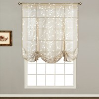 Three Posts Alderbrook Nature / Floral Sheer Rod Pocket Single Curtain Panel THPS4113