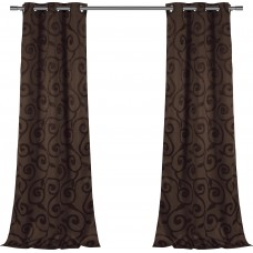 Three Posts Weldon Nature/Floral Blackout Grommet Curtain Panels THRE8733