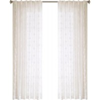 Willa Arlo Interiors Bouffard Geometric Sheer Rod Pocket Single Curtain Panel WRLO7224