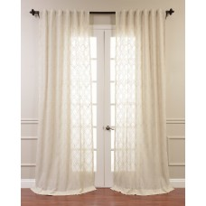 Willa Arlo Interiors Rogero Geometric Sheer Tab Top Single Curtain Panel WRLO7761