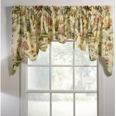 "August Grove Kaur Lined Empress Swag 100"" Window Valance AGTG5678"
