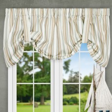 "Ellis Curtain Jaden Stripe 60"" Tie-Up Curtain Valance EQK1698"