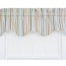 Highland Dunes Zara Stripe Print Lined Duchess Filler Curtain Valance HLDS4317