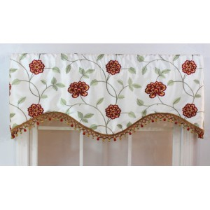"RLF Home Stella 50"" Curtain Valance QEF1056"