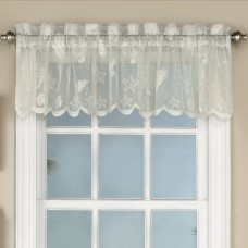 "Sweet Home Collection Reef Marine Knitted Lace Kitchen 60"" Curtain Valance SWET1793"