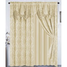 Astoria Grand Loyola Damask Room Darkening Thermal Rod Pocket Curtain Panels DAHD4309
