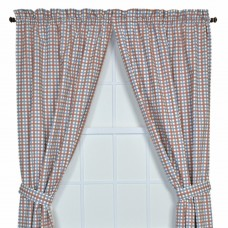 August Grove Gwyn Tailored Plaid and Check Semi-Sheer Rod Pocket Curtain Panels ATGR3688