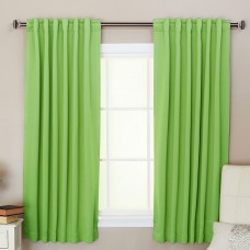 Best Home Fashion, Inc. Apple Solid Blackout Grommet Thermal Curtain Panels BEHF1286