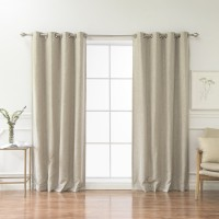 Best Home Fashion, Inc. Classic Heathered Solid Blackout Grommet Curtain Panels BEHF1093