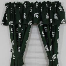 College Covers NCAA Michigan State Printed Sports Rod Pocket Curtain Panels CVL1532