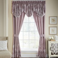 Croscill Liliana Nature / Floral Rod Pocket Curtain Panels ZM3264