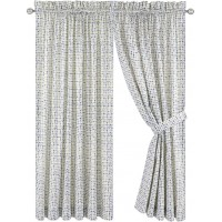 Langley Street Brandon Tailored Plaid Check Semi-Sheer Rod Pocket Curtain Panels LGLY7056