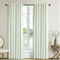 Lyndale Decor Solid Blackout Tab top Single Curtain Panel BNDA1038