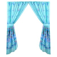 Sweet Home Collection Scenic Ocean Nautical Seme-Sheer Rod Pocket Curtain Panels SWET2227