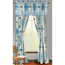World Menagerie Chantrell Nature / Floral Sheer Rod Pocket Curtain Panels WLDM7338