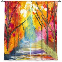 DiaNocheDesigns Abstract Room Darkening Rod Pocket Curtain Panels DNOC2372